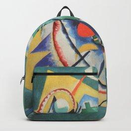 Wassily Kandinsky - Red Oval Backpack