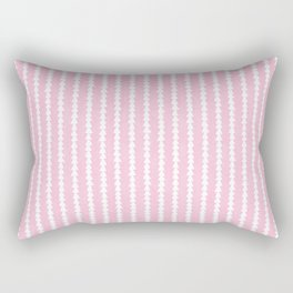 Tiny Triangles Stripes in Pink Rectangular Pillow