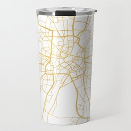 MUNICH GERMANY CITY STREET MAP ART Travel Mug