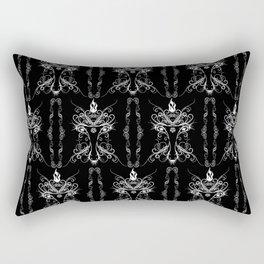 Baphomet Damask Occult Goth Art Rectangular Pillow