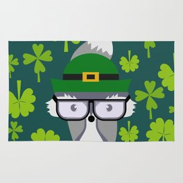 St. Patrick's Day decor with cute little fox Rug
