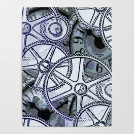 Steampunk Gearwheels Poster