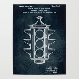 1923 Design for a traffic light patent art Poster