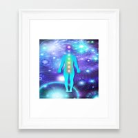 chakra Framed Art Prints featuring Chakra Universe by NatalieCatLee