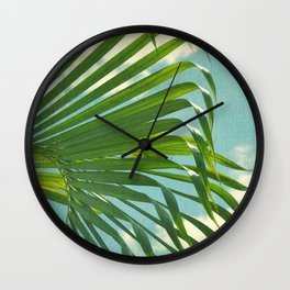 palm tree and clouds Wall Clock