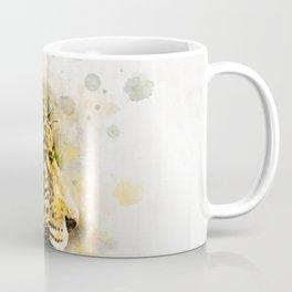 Jaguar Watercolor Splash Coffee Mug