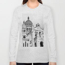 French Sacre Coeur church in Paris Long Sleeve T-shirt