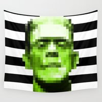 frank Wall Tapestries featuring Frank by Portia Alice