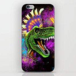 Punky T-rex  iPhone Skin