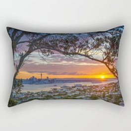 Auckland City Sunset Rectangular Pillow