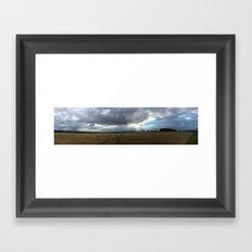 Godlight field Framed Art Print