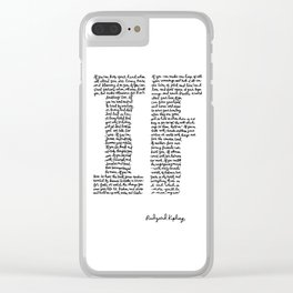 If Poem Clear iPhone Case