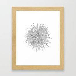 Bridging on White Background Framed Art Print