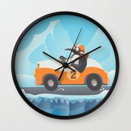 Penguin Racer Wall Clock