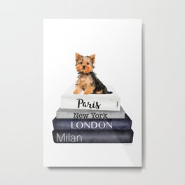 yorkshire terrier, Books, Yorkie, Fashion books, Fashion illustration, Fashion, Amanda Greenwood Metal Print