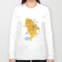 wolves Long Sleeve T-shirts featuring Wolves by Ann Van Haeken