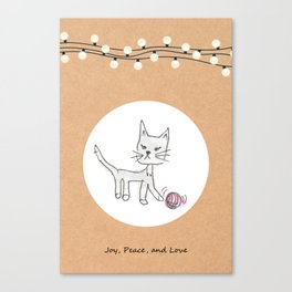 Cute playing cat | Cute gift for cat lover Canvas Print