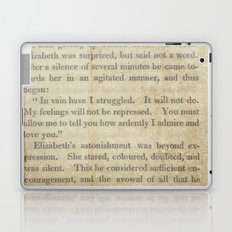 Pride and Prejudice  Vintage Mr. Darcy Proposal by Jane Austen   Laptop & iPad Skin