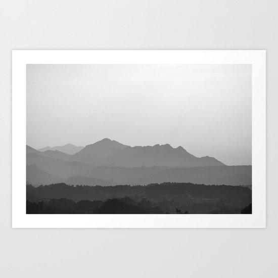 A Mountain Sunset Art Print
