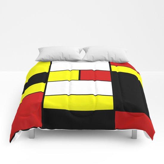Abstract #378 Mondriaan Comforters
