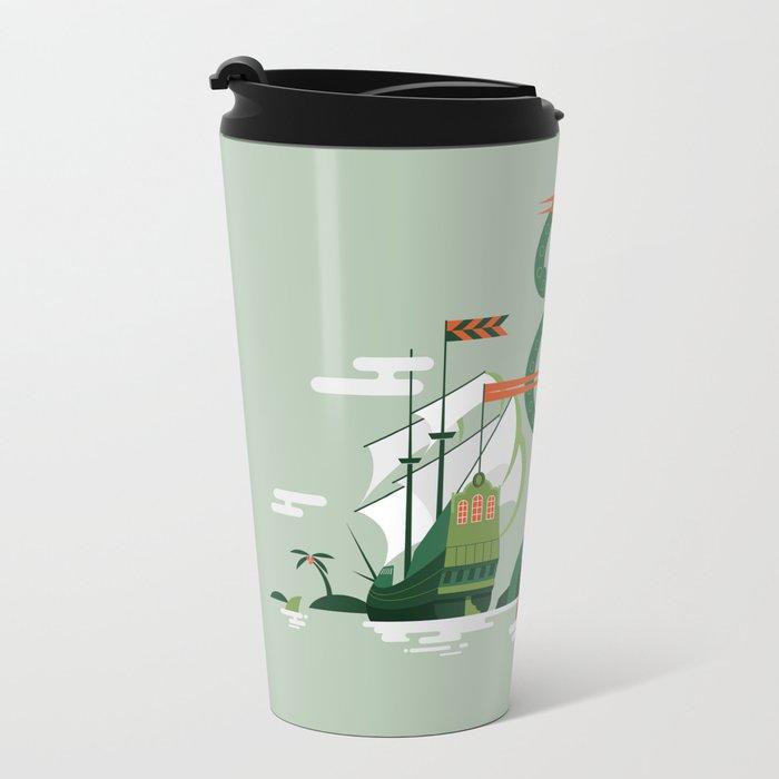 Sea of Adventure Metal Travel Mug