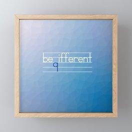Be Different Typography Design Framed Mini Art Print