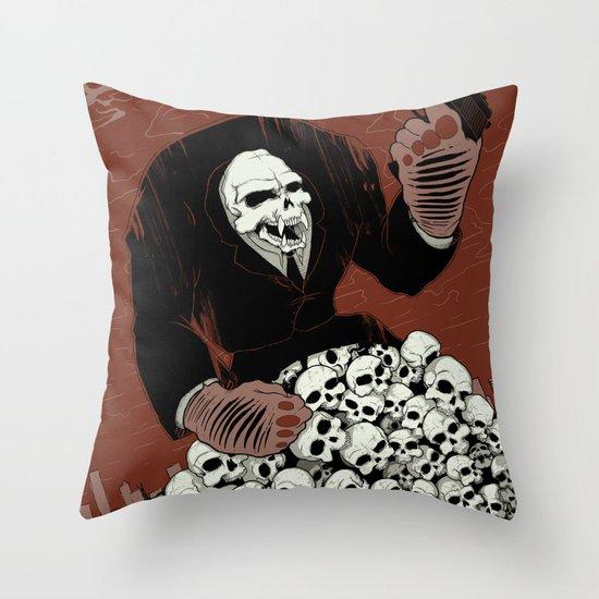 Monkey Skull Suit Throw Pillow
