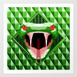 Snake Head Trophy 2 Art Print