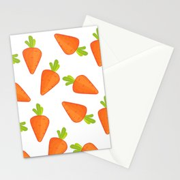 carrot pattern Stationery Cards