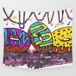 Mardi Gras Donuts Wall Tapestry