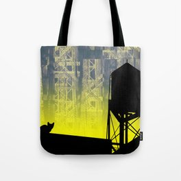 A Cat on a City Roof Tote Bag