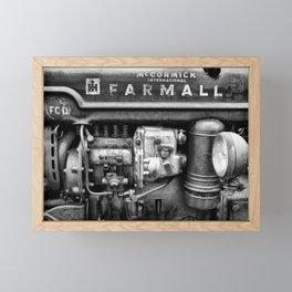 vintage Farmall Tractor Framed Mini Art Print