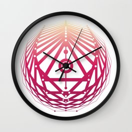 Radiant Abundance (white-sunrise) Wall Clock