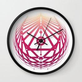 Radiant Abundance (white-sunrise) Wall Clock