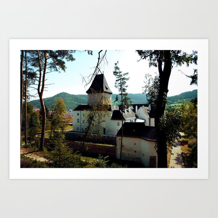 Castle Through the Trees Art Print