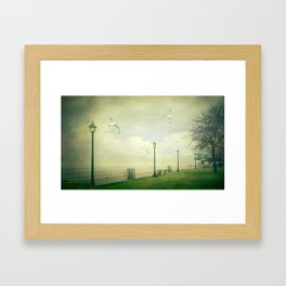 On The Boardwalk Framed Art Print