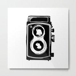 Vintage Film Camera Illustration Metal Print
