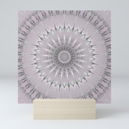 Mauve Silver Mandala Mini Art Print
