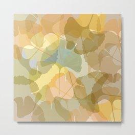 colorful gingko leafs Metal Print