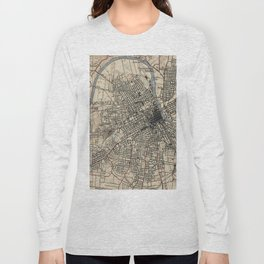 Vintage Map of Nashville Tennessee (1929) Long Sleeve T-shirt