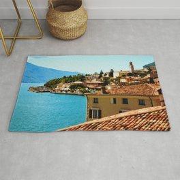 Limone Sul Garda Lake Garda Italy photo painting  Rug