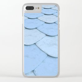 Pattern of blue rounded roof tiles Clear iPhone Case