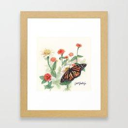 Monarch Study Framed Art Print