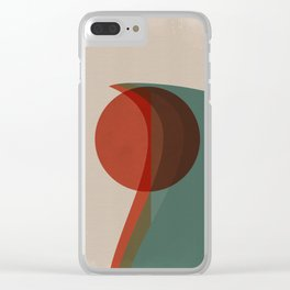 Abstract Vintage Clear iPhone Case