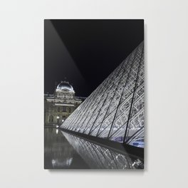 Louvre at night - vertical Metal Print