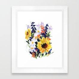 Sunflower Bouquet Framed Art Print