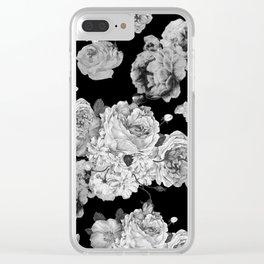 Grey Rose Clear iPhone Case