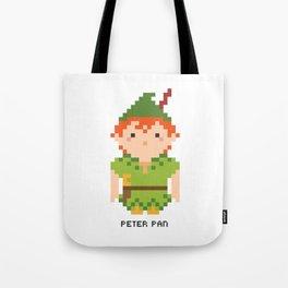 Peter Pan Pixel Character Tote Bag