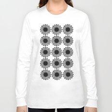vintage flowers black Long Sleeve T-shirt