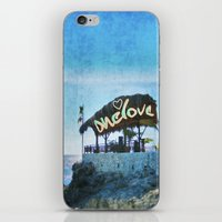 jamaica iPhone & iPod Skins featuring One Love… Jamaica by NisseDesigns